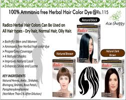 permanent hair color powder