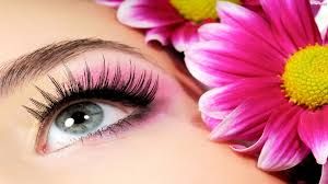beautiful eye makeup with flower other