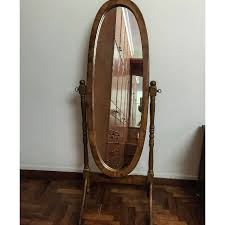 oval mirror with adjustable stand