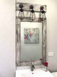 pin on mirror and light bathroom set