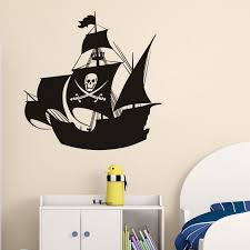 Skull Pirate Ship Wall Stickers Pirates Of The Caribbean Wall Decal Removable Vinyl Sticker Kids Room Mural 57 57cm Wall Sticker Pirate Stickers Pirateswall Sticker Aliexpress