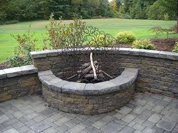 retaining wall fire pit outdoor fire