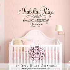 Every Good And Perfect Gift Personalized Wall Decal Nursery Bible Verse Personalized Wall Decals Nursery Wall Decals Personalized Wall