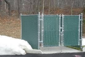 Galvanized Chain Link Dumpster Enclosure With Shorter Leaf Gate Ketcham Fenceketcham Fence