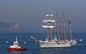 schooner sailboat tugboat boat sea