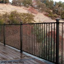 Fe26 Prefabricated Wrought Iron Deck Railing Panel By Fortress Railing Decksdirect