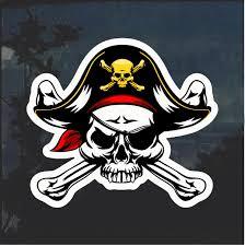 Pirate Skull And Crossbones Color Window Decal Sticker Custom Sticker Shop