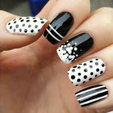 easy dotted nail art designs