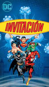 Tarjeta De Invitacion Digital Animada De Super Amigos Heroes En