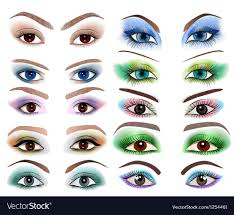 eyes with a diffe makeup vector image