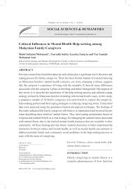 pdf cultural influences in mental health help seeking among