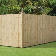 Unbranded 6 Ft X 8 Ft Pressure Treated Pine Dog Ear Stockade Fence Panel 102561 The Home Depot
