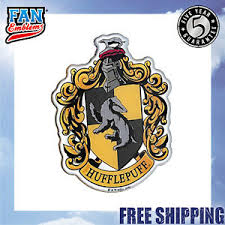 Harry Potter Domed Chrome Car Decal Hufflepuff Crest Ebay