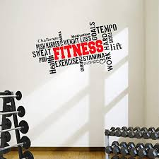 Amazon Com Designdivil Pro Fitness Motivational Wall Decal Gym Quote Home Kitchen
