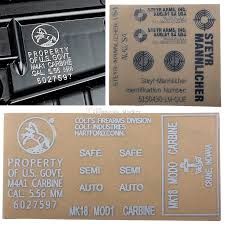 2020 Outdoor Tactical Metal Stickers Diy Waterproof Stickers Decoration Decal For Hk416 Acr Mp7 P90 M4 Aug From Starker 0 97 Dhgate Com