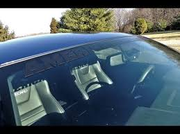2013 Ford Mustang Gt American Muscle Matte Black Windshield Banner Installed Youtube