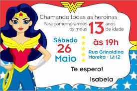 Isabela 13 Anos Invitaciones Mujer Maravilla Torta Mujer