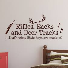 Rifles Racks And Deer Tracks Boys Hunting Wall Decal Nursery Sticker 1279 Innovativestencils