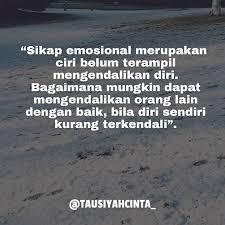 sikap emosional merupakan ciri belum terampil mengendalikan diri