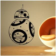 Bb 8 Wall Stickers Home Decor Movie Robot Diy 3d Vinyl Wall Decal Geek Gamer Removable Mural Wallpaper Kids Room Removable Wall Stickers For Kids Removable Wall Stickers For Kids Rooms From