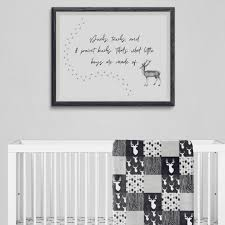 What Little Boys Are Made Of Woodland Nursery Wall Decor Woodland Wonders Collection Little Darlings Baby Boutique