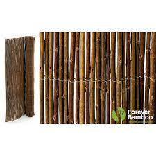 Backyard X Scapes Willow Wood Fence For Garden 6 Ft H X 16 Ft W 16 Ft X 6 Ft Brown Wood No Dig Decorative Bamboo Fencing Rolled Fencing In The Rolled Fencing Department At