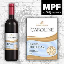8 personalised wine bottle labels