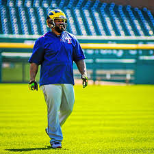 Rangers' Prince Fielder, Derek Holland spotted sporting Wolverines helmets,  tossing pigskin at Comerica Park | Sports | macombdaily.com