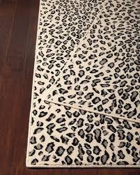 nourcouture lea snow leopard rug 3 x