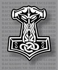In Odin We Trust Thor Vikings Hammer Mjolnir Norse Celtic Vinyl Firehouse Graphics
