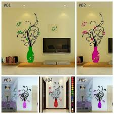 3d Flower Vase Removable Mirror Wall Art Sticker Room Decal Mural Home Diy Decor For Sale Online