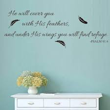 Black Vinyl Wall Art Inspirational Quotes And Saying Home Decor Decal Sticker Quote Psalm 91 4