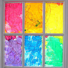 easy to make rainbow stained glass window