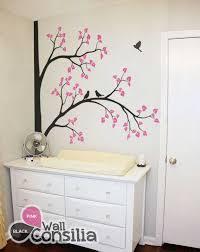 Nursery Corner Tree Decal With Birds Kids Room Decalwallconsilia Com