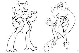 Mega Evo Mewtwo Coloring Pages Az Coloring Pages Pokemon