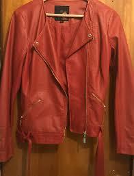 zara red peplum faux leather jacket