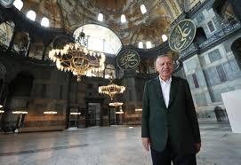 Son dakika: Başkan Erdoğan'dan Ayasofya Camii'nde inceleme