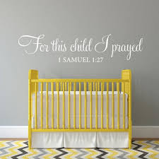 For This Child I Prayed Wall Decal Scripture Vinyl Lettering Etsy