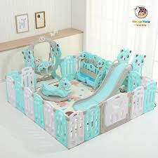 Best Price 3540 Children S Foldable Playpen With Crawling Mat Indoor Home Safety Fence For Newborn Baby Pool Balls Kids Safety Barrier F07 Cicig Co