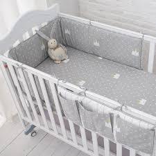 muslinlife little grey crown bedding