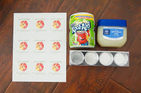 homemade lip balm with sour apple
