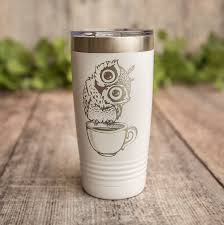 Cute Owl Engraved Stainless Steel Tumbler Yeti Style Cup Owl Mug 3c Etching Ltd