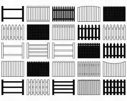 Picket Fence Clipart Etsy