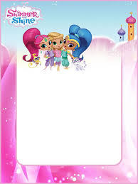 Shimmer And Shine Invitations For Girls Convite De Aniversario