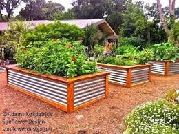 corrugated metal raised garden beds