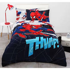 spider man flying web quilt cover set