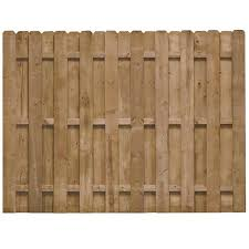 Barrette 6x8 Ft Pt Shadow Box Wood Fence Panel Dog Ear Lowe S Canada