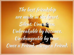 the best friendship are made in the heart silver quotes