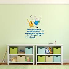 Excellence Adventure Time Quote Cartoon Quotes Decors Wall Sticker Art Design Decal For Girls Boys Kids Room Bedroom Nursery Kindergarten Home Decor Stickers Wall Art Vinyl Decoration 10x8 Inch Walmart Com