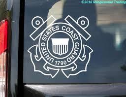 2x United States Coast Guard Vinyl Decal Sticker Uscg